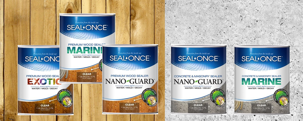 Seal-Once® waterproofers for wood, exotic wood, concrete and masonry and composite decking provide years of protection.